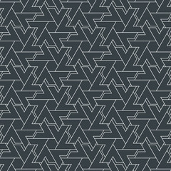 abstract stripe geometric chevron or triangle, vector pattern background