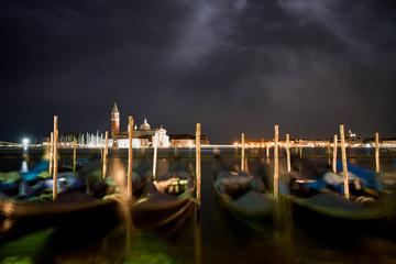 Venice city under moon light