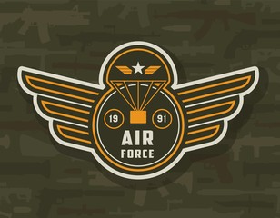 Vintage air forces colorful insignia