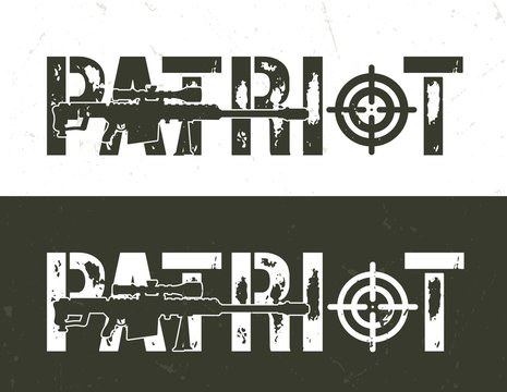 Vintage military and army horizontal template