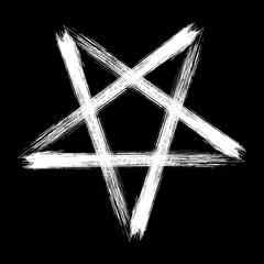 Reversed pentagram occult symbol
