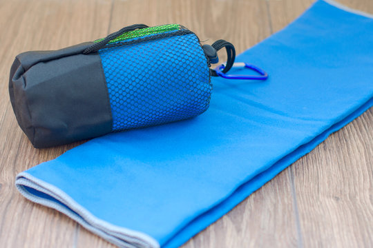 Microfiber towel for fitness and outdoor walks.