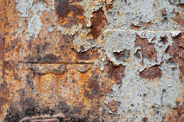 old metal iron rust background and texture. Wall mural
