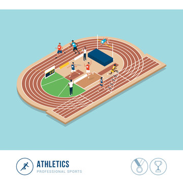 Professional sports competition: athletics