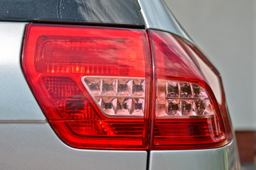 This is a view of citroen C5 lamp detail.