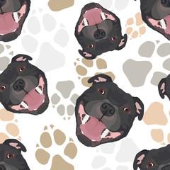 Muster Hundepfoten Staffordshire Bullterrier