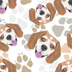 Muster Hundepfoten Beagle