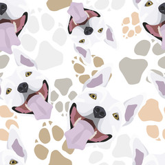 Muster Hundepfoten Bullterrier