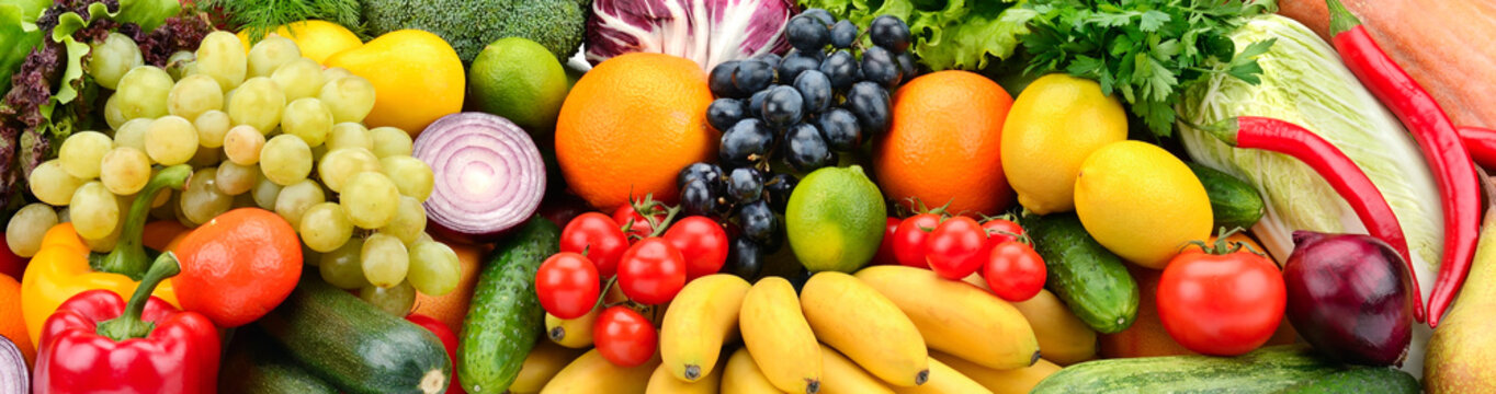 Background fruits and vegetables. Healthy eating