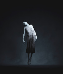 Ghost woman floating,3d rendering