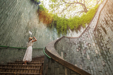 Fototapete - traveling at Fort Canning Park in Singapore