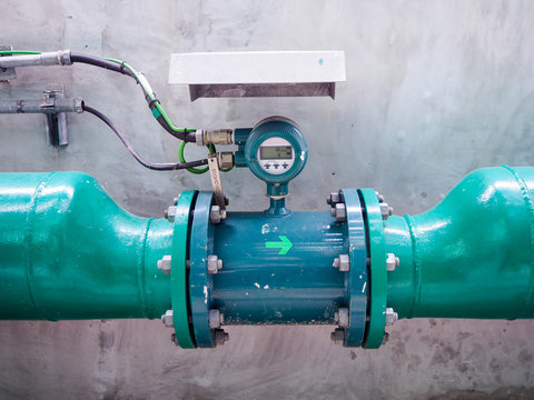Flow transmitter of Vertex type for monitoring and control flow of water in industry zone at power plant.