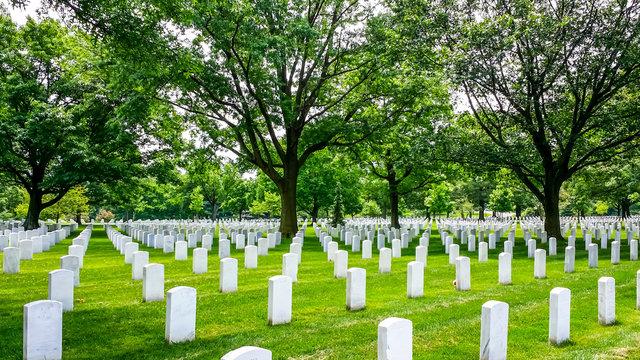 Arlington Cemetery in Virginia, America