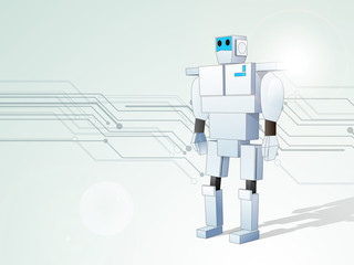 Concept of electronics with robot.