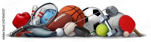 Wall mural Sport Objects