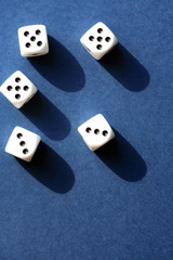 Dice Game On Blue