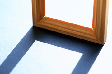 Wooden Frame With Shadow