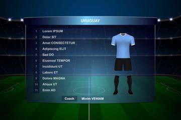 Football scoreboard broadcast graphic template