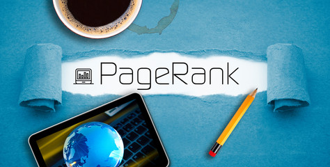 Blue paperwork with term page rank