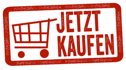 Wall Mural - Red grunge illustration with message with the german words for buy now - jetzt kaufen
