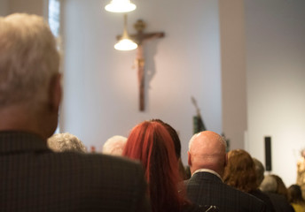 funeral service at church