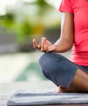 Yoga meditating