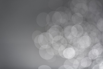 Soft gray bokeh background, Take pictures with digital camera, Customize colors with photoshop.