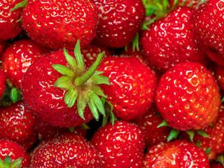 Bunch of juicy strawberries