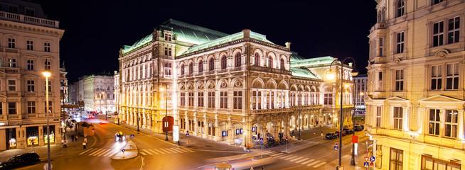 Keuken foto achterwand Wenen Vienna State Opera at night