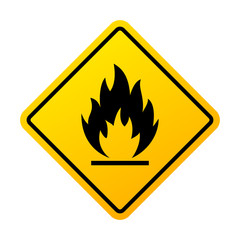 Flammable materials warning sign
