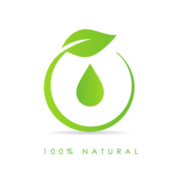 Natural oil drop icon