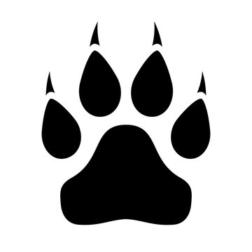 Animal paw icon with claws