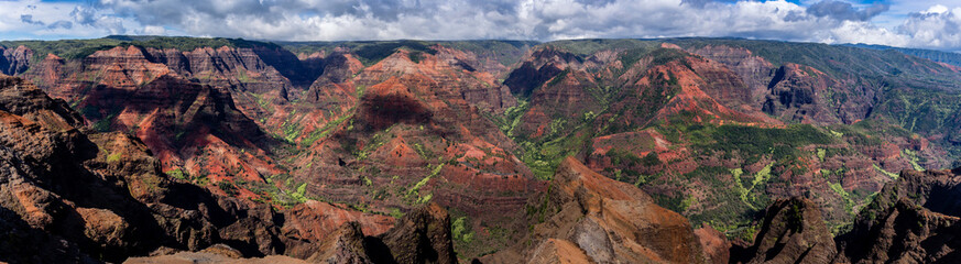 Printed roller blinds Deep brown Super panorama of waimea canyon in Kauai, Hawaii