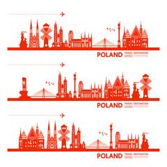 Wall Mural - Poland travel destination vector illustration