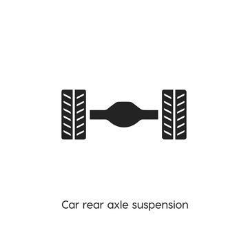 car rear axle suspension icon. suspension icon vector. Linear style sign for mobile concept and web design. car rear axle suspension symbol illustration. vector graphics - Vector
