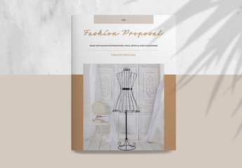 Fashion Proposal Layout with Brown Accents