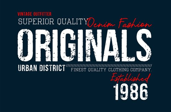 Typography superior denim slogan for t-shirt printing design and various uses, vector image.