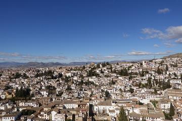 Andalusian town landscape and sky in Granada Spain Fotobehang
