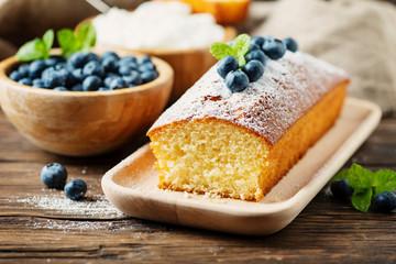 Fototapeta Homemade plum cake obraz