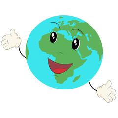 Cartoon of the earth
