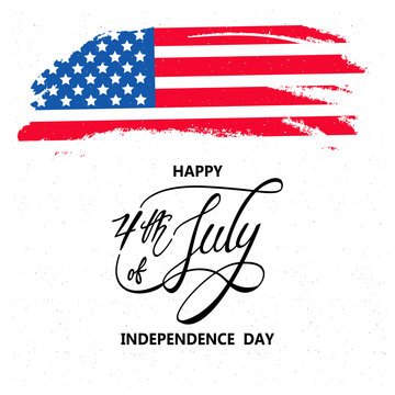 Happy independence day or 4th of July vector background or banner graphic