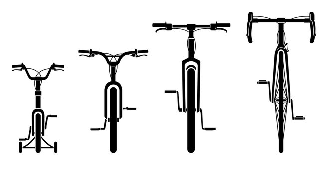 Family Bicycles Front View