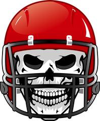Football Helmet Skull