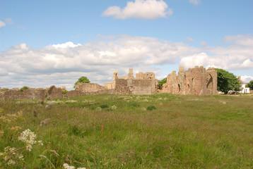 historic ruins of Lindisfarne Priory
