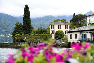 View of the home of U.S. movie star George Clooney, Villa Oleandra, in the northern Italian lakefront hamlet of Laglio