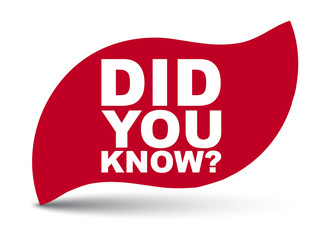 red vector banner did you know
