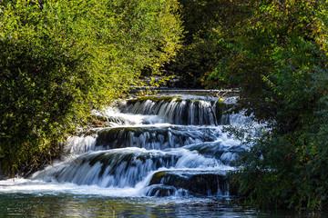 Wall Mural - Magnificent cascade of waterfalls