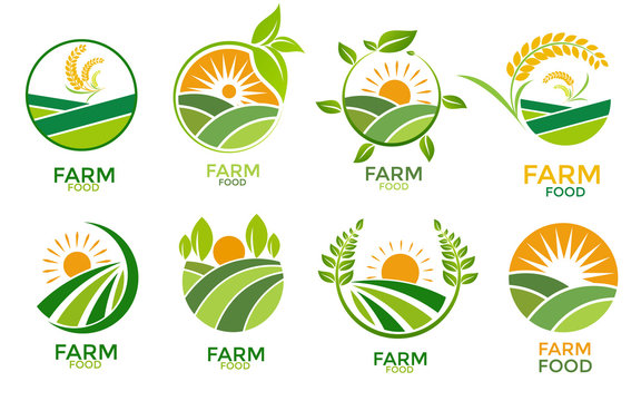logo farm food Design icon.
