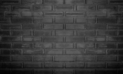 Wall Mural - Black brick wall as background