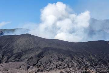 Top view of mount bromo in Indonesia